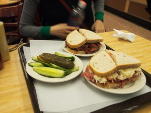 We had Pastrami and Ruben.  and it came with mound of pickles..