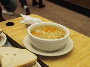 the chicken noodle soup was a proper chicken noodle soup.