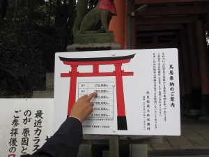 Each Torii is donated to the temple, and they are not so cheap....