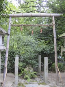 the only torii in Kyoto that made from bamboo.