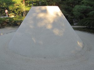 this sand mound is representing a mountain.