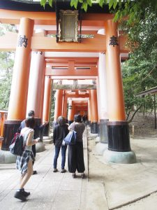 This is what this Inari is famous for, Sen-bon-Torii.  which means 1000 Torii gates.