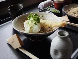 we also had cold soba.  This restaurant make soba from complete scratch (from buckwheat flour), and the texture of the noodle is un comparable to anything I had elsewhere...