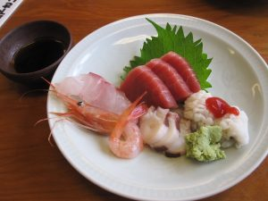 Sashimi.  all are so fresh. the shrimp was so sweet!
