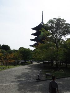 Toji is famous for this 5 story tower.  it's the largest of this kind in Japan.