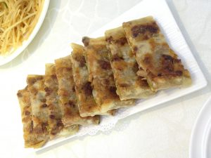 pancake with meat fillings